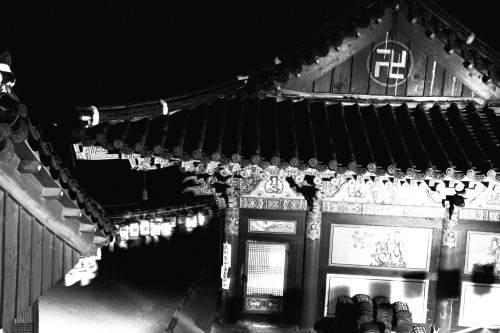 Buddhist Temple at Night